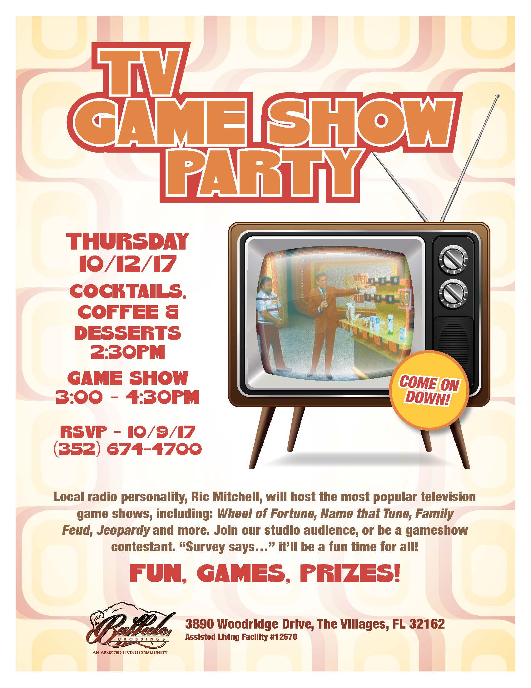 The Game Show Party - Buffalo Crossings Assisted Living