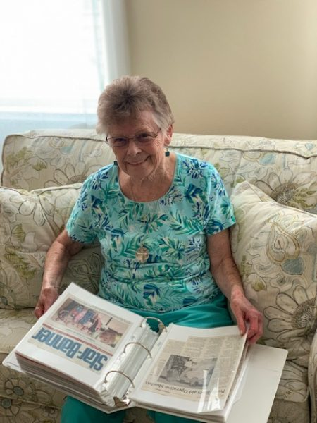 Nancy with operation shoebox